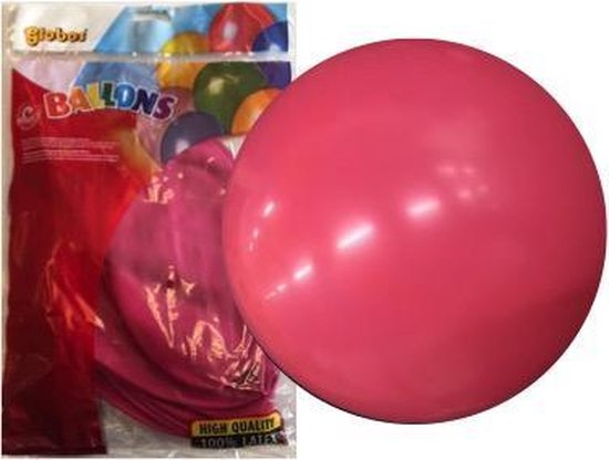 Topballon fuchsia (Ø91cm, 6st)