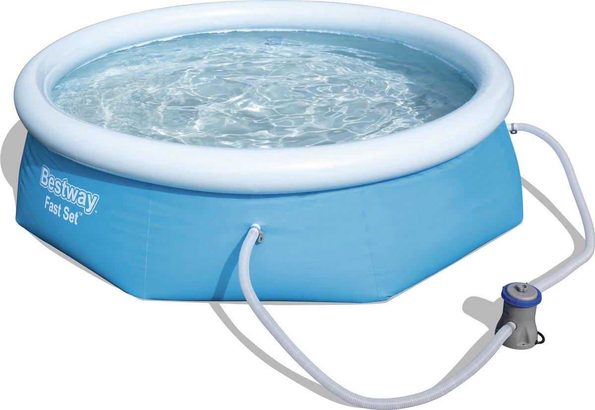 Bestway Fast Met Filterpomp Rond Blauw (Ø244 x 66 cm) - Opblaas zwembad