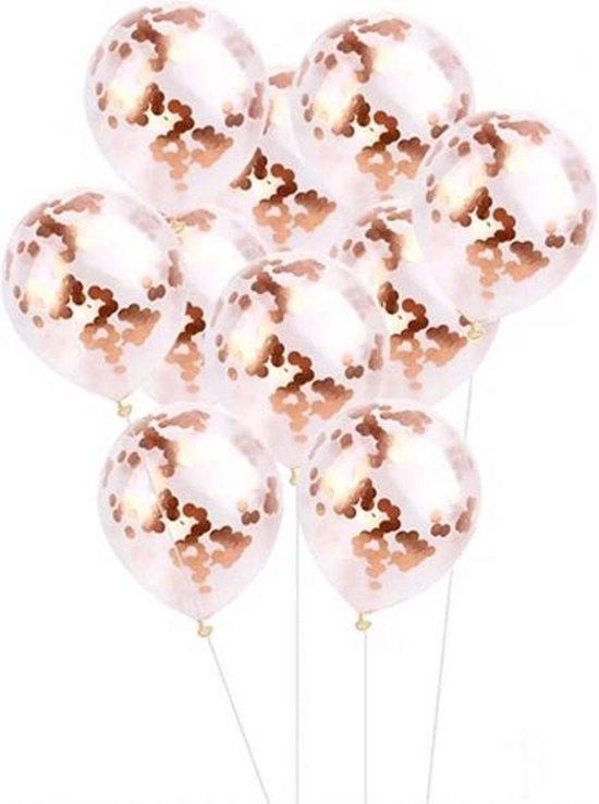 Confetti Ballonnen - Rose Goud - 12 stuks - Ideaal voor Feesten, Bruiloft en Verjaardag