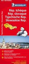 Rep. tcheque & slovaque / tsjechische rep. & Slowakije 11731 carte ' national ' michelin kaart
