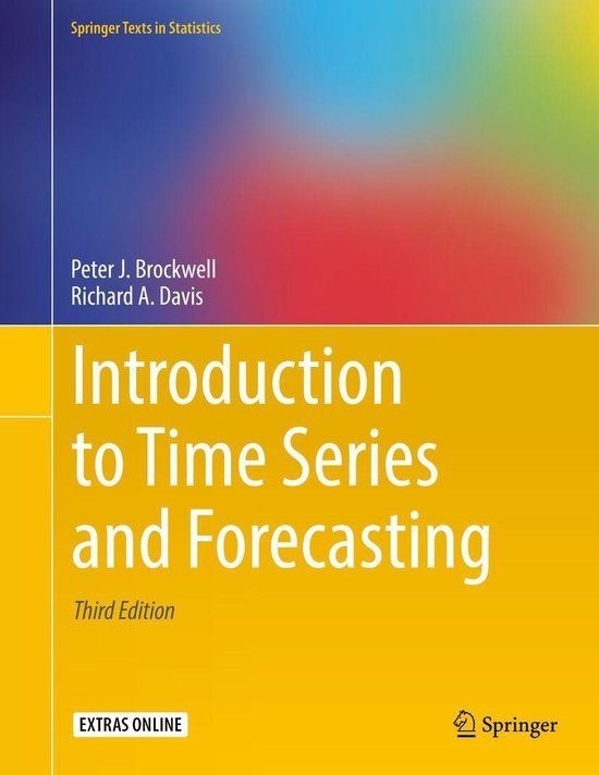 Boek cover Introduction to Time Series and Forecasting van Peter J. Brockwell (Onbekend)