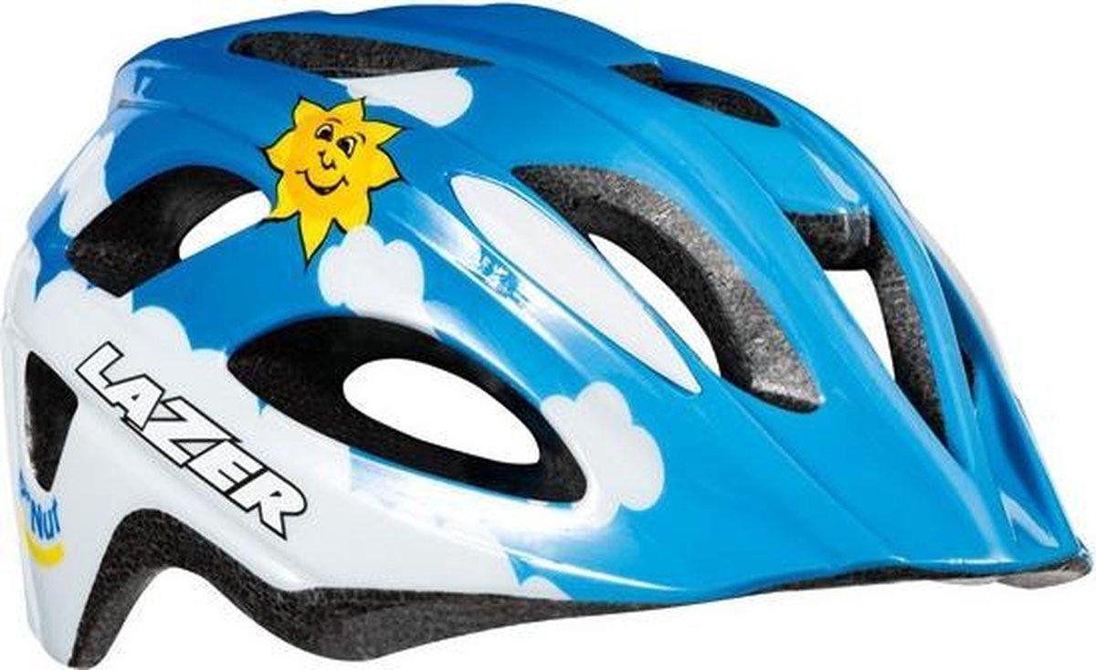 Lazer Kinderhelm P'nut - Sky Junior 46-50 Cm Blauw/wit