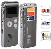 Voice recorder 8GB | Digitale spraakrecorder | Grijs  klein |
