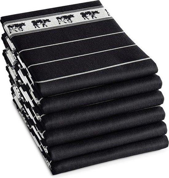 DDDDD Theedoek Zwart Bont Black (6 stuks)