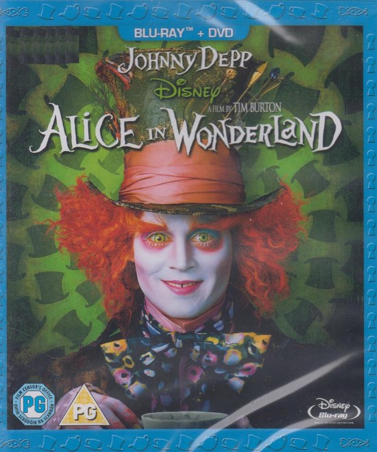 Cover van de film 'Alice In Wonderland'