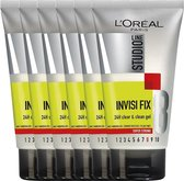 L'Oréal Paris Studio Line Invisi Fix 24H Clear & Clean Gel - Super Strong - 6 x 150 ml - Voordeelverpakking