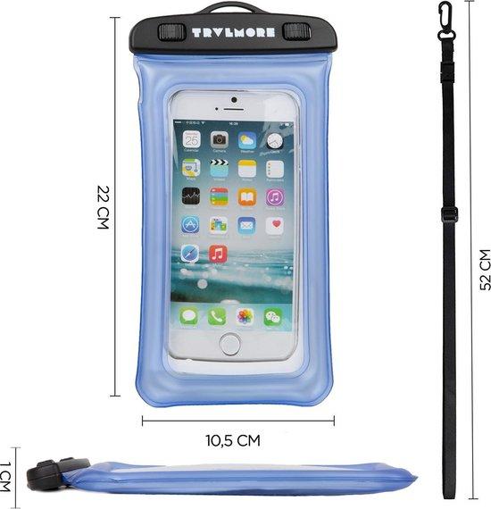 2X Waterdichte en Drijvende Telefoon Hoes - Universeel - Transparant