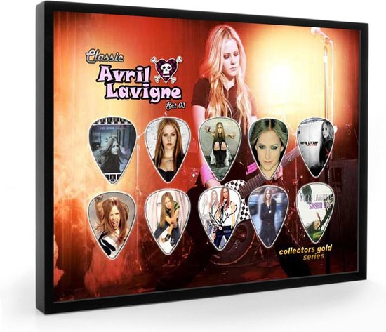 Plectrumdisplay Avril Lavigne ingelijst