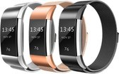 YONO Milanees bandjes - Fitbit Charge 2 - 3-pack - Small