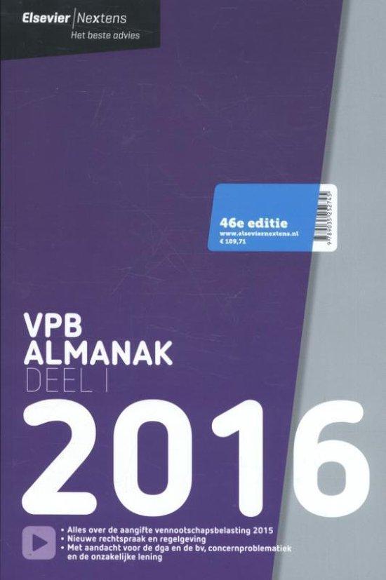 Elsevier VPB almanak 2016 dl. 1 - A.J. van den Bos |