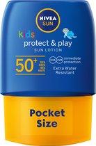 NIVEA SUN Kids Protect & Play Pocket Size Zonnemelk SPF 50+ - 50 ml