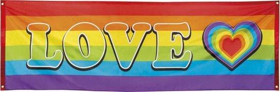 Polyester banner rainbow