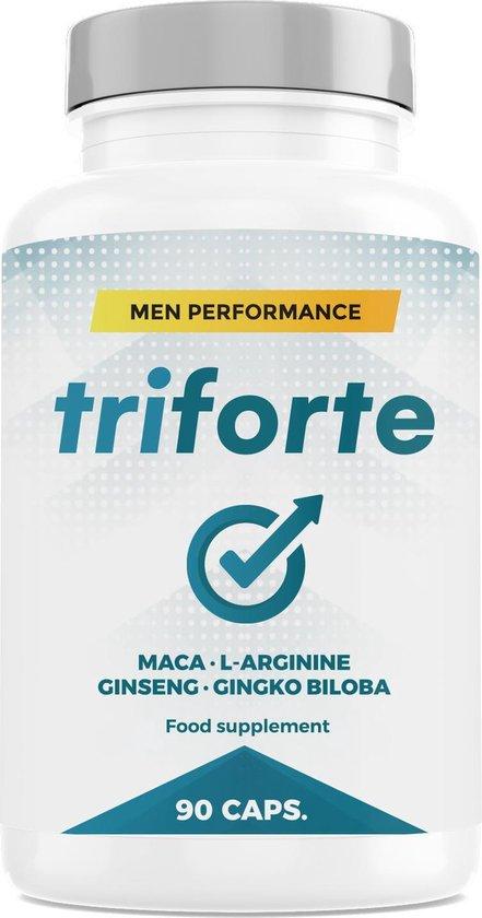 Triforte Men Performance - Testosteron + Kracht + Sperma + Plezier - 90 Capsules