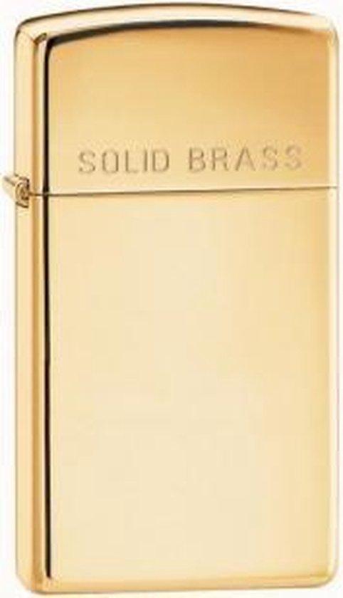 Zippo aansteker Brass High Polished Slim