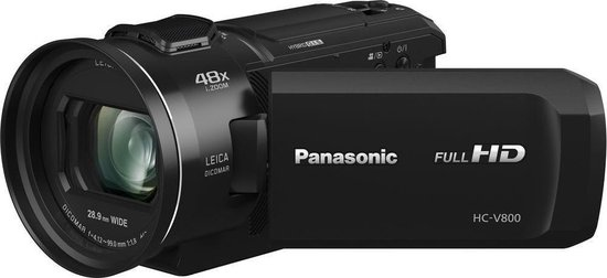 Panasonic HC-V800 - Full HD Camcorder - Zwart