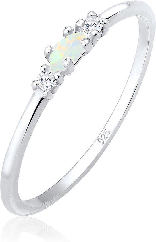 Elli Ring vintage zirkonia marquise opaal  925 zilver - Elli