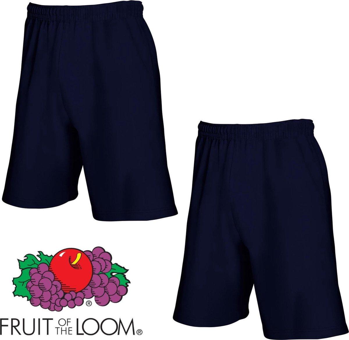 Fruit of the Loom (2 Pack) Korte Broeken Blauw Maat XL