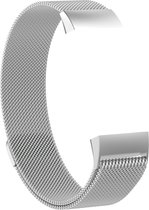 Gymston® Milanees bandje - Fitbit Charge 3 - Zilver - Small
