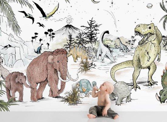 Behang Prehistoric - Sample Vliesbehang