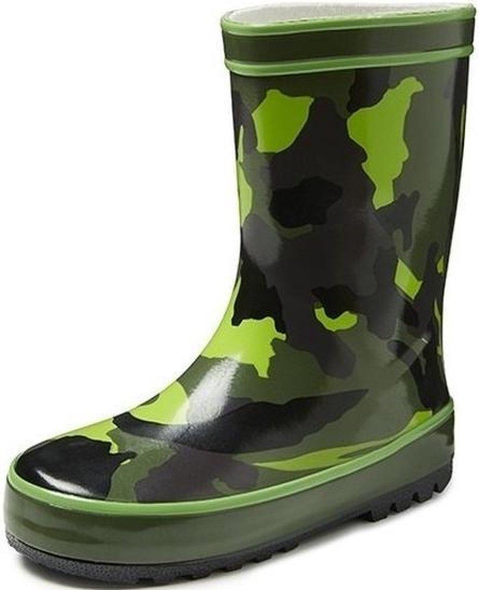 Groene kinder regenlaarzen camouflage Rubberen camouflage print laarzenregenlaarsjes voor kinderen 30