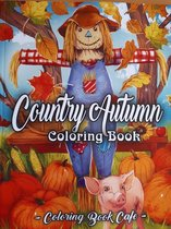 Country Autumn Coloring Book