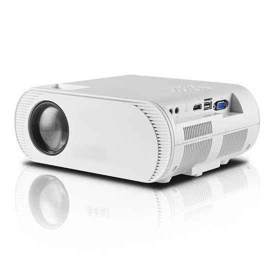 Qumax Beamer Met HDMI Kabel - Beamer Projector - Mini Beamer - 2500 Lumen - Wit