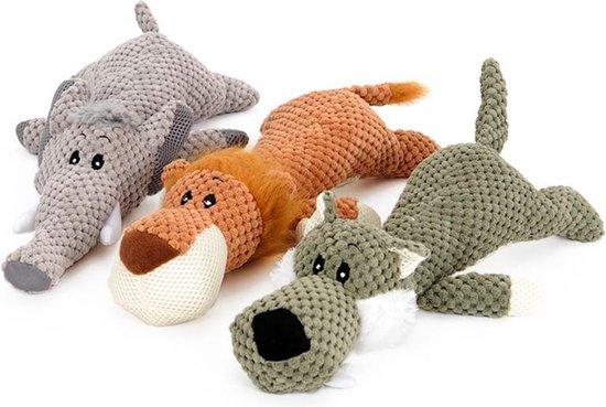 Hondenspeelgoed - Leeuw - Piepspeelgoed - Knuffels - Oranje - Speelgoed voor dieren.