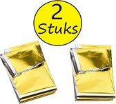 Nooddeken 2 Stuks –160x210cm – Reddings deken – Isolatiedeken – Zilver, Goudkleurig