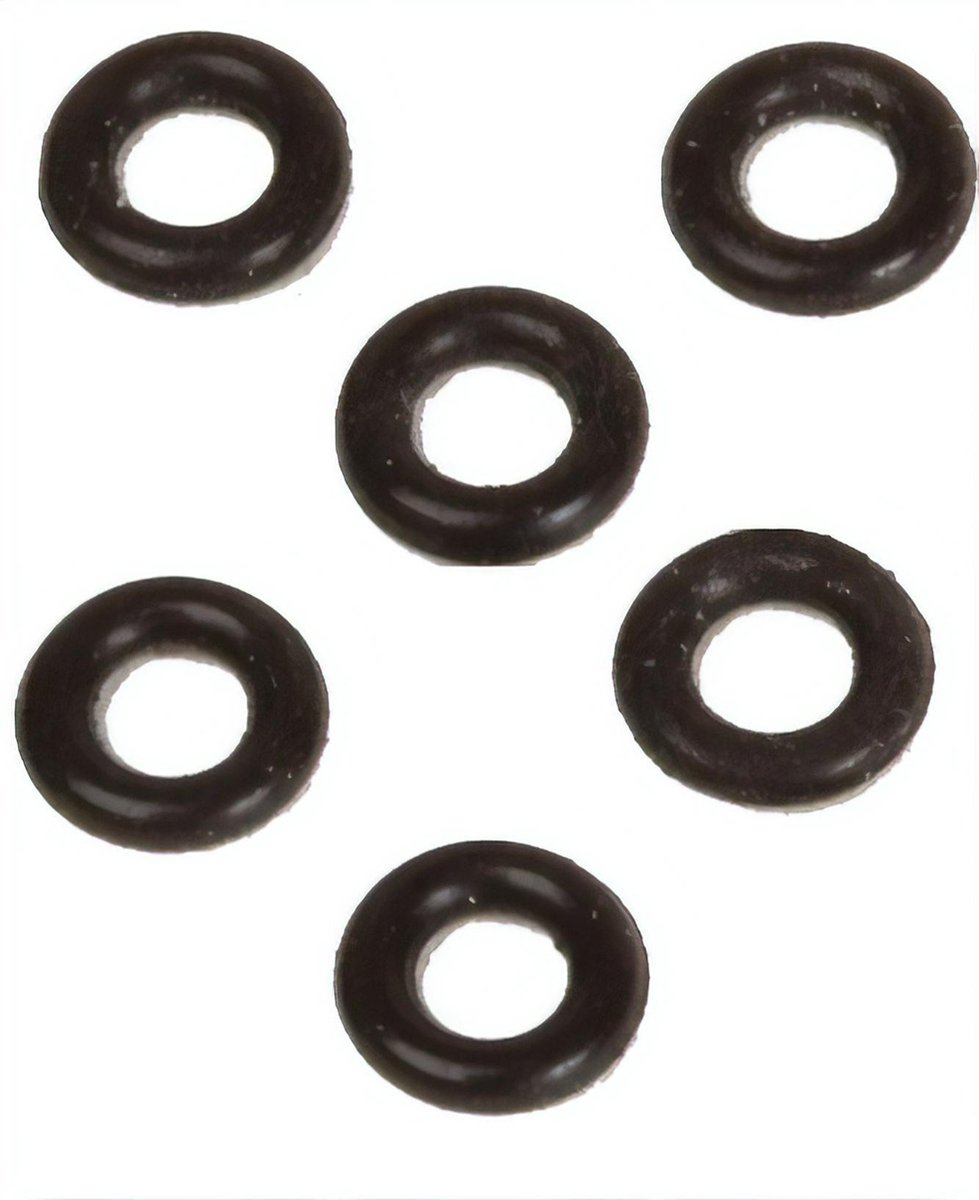 Bull's O-rings 6 Mm Zwart 6 Stuks