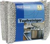 Schuursponsjes staal - Metaal - 15 stuks - Pannenspons - 10 x 8 cm - Afwas spons - schuurspons