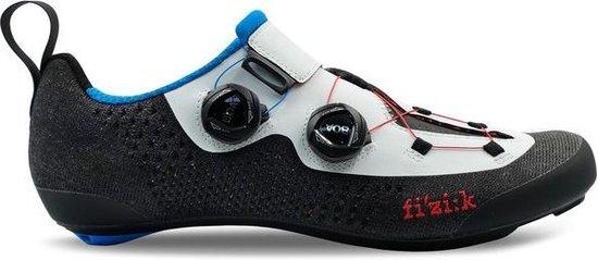 Fizik Transiro Infinito R1 Knit Triathlon Schoenen, wit/zwart Schoenmaat EU 41