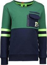 B.Nosy Jongens sweater - seaweed - Maat 110/116