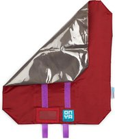 Foodwrap / Herbruikbaar Boterhamzakje (ROOD) gemaakt van gerecycled materiaal | Lunch Wrap | MyFoodways.nl | Lunch Bag