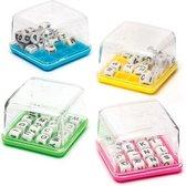 Mini-woordspelletjes - Een leuk speeltje voor uitdeelzakjes voor kinderen (4 stuks per verpakking)