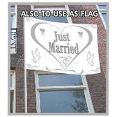 Just Married gevelvlag 150 x 100 cm