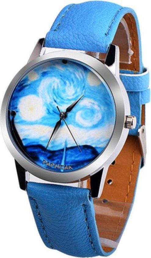 Fako® – Horloge – Oceaan – Lichtblauw