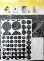 Set rubberen pads - Anti slip pads - Geschikt voor wasmachine, tapijt, etc - Verschillende varianten en maten - Set van 125 stuks