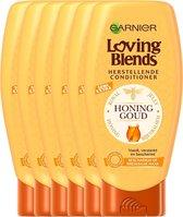 Garnier Loving Blends Conditioner - Honing Goud - Beschadigd of Breekbaar Haar - 6 x 250 ml - Voordeelverpakking