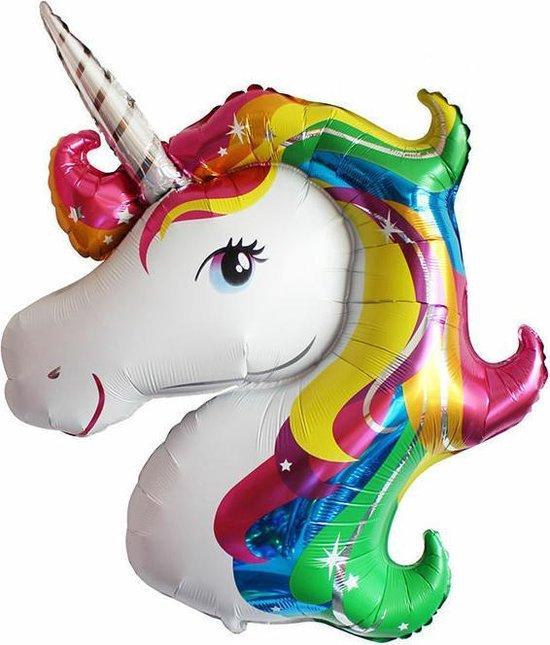 Eenhoorn folieballon - Unicorn folieballon - folie ballon - feestje - kinderfeestje - carnaval - XL eenhoorn - 110 cm