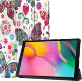 Samsung Galaxy Tab A 10.1 (2019) Hoesje Book Case Hoes Cover Vlinders