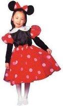 Minnie Mouse - Kostuum - Maat 128