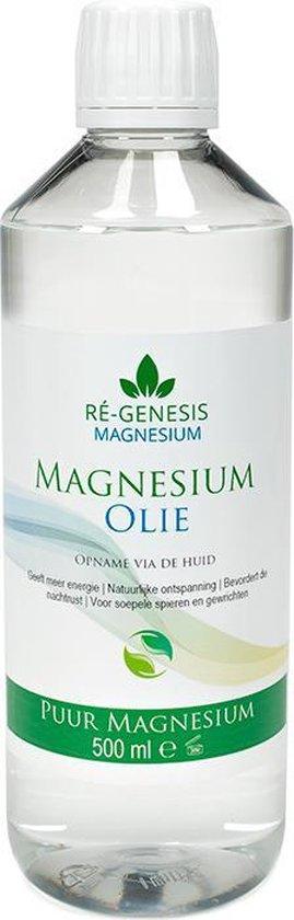 Magnesiumolie 500 ml navulfles van Ré-genesis - voor Magnesiumspray fles - Magnesium olie voor spieren