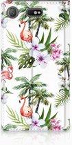 Hoesje Sony Xperia XZ1 Compact Design Flamingo Palms