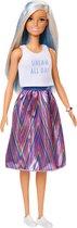 Barbie Fashionistas Lang Blauw-Wit Haar - Barbiepop
