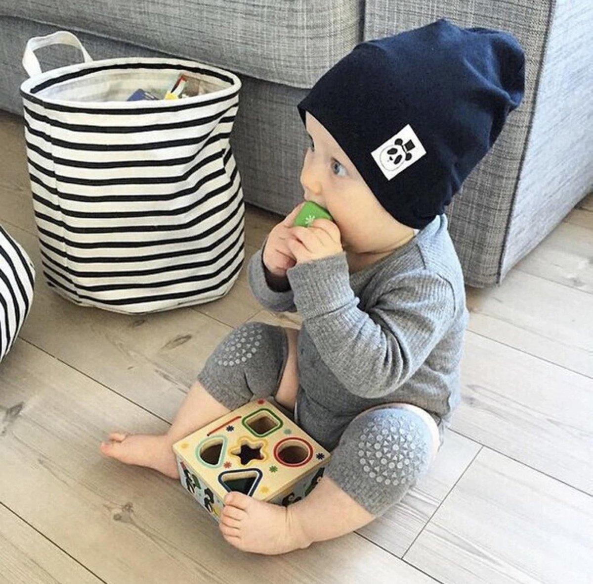 Baby kniebeschermers - Knie Kruipen Beschermers -  grijs - 1 paar