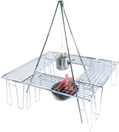 Dutch Mountains Camping Tafel - BBQ Rooster - Barbecue grill - Stapelbaar rek