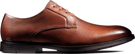 Clarks Ronnie Walk Heren Veterschoenen - British Tan Leather - Maat 46