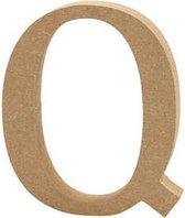 Letter Q h: 8 cm dikte 1 5 cm MDF 1stuk