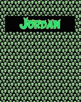 120 Page Handwriting Practice Book with Green Alien Cover Jordan