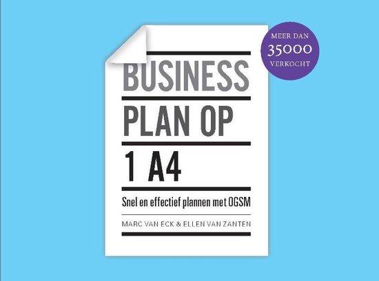 Boek cover Businessplan op 1 A4 van Marc van Eck (Hardcover)